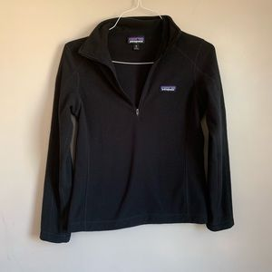 EUC Patagonia Size XS Black 1/4 zip pull over